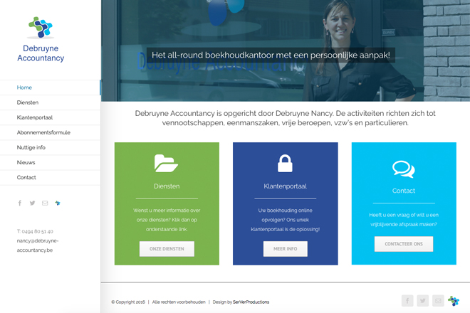 nieuwe website Debruyne Accountancy online